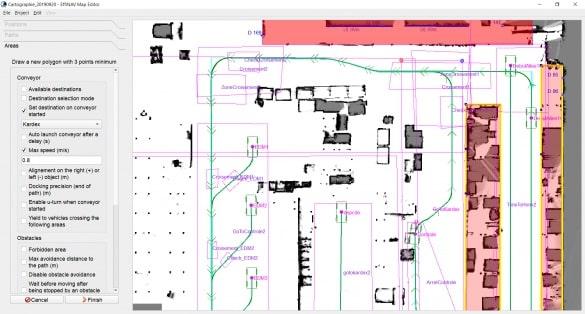 Mapeditor : outil de configuration et d'installation d'EffiBOT dans son environnement.